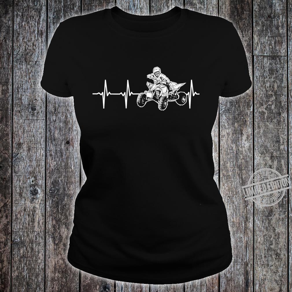 AllTerrain Vehicles 4Wheeler ATV Heartbeat Shirt ladies tee