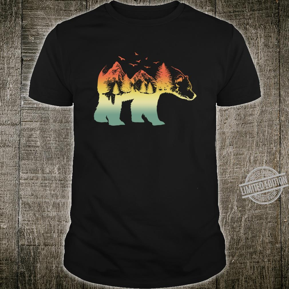 Bear Double Exposure Retro Vintage Shirt