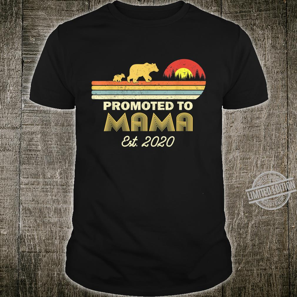 Bear Promoted to mama Est 2020 First Time Shirt