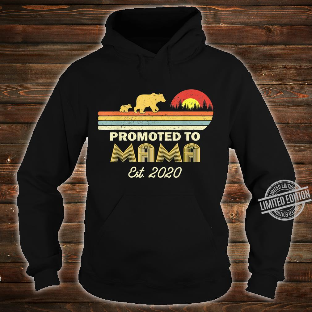 Bear Promoted to mama Est 2020 First Time Shirt hoodie
