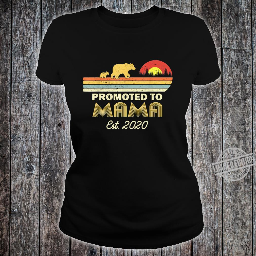 Bear Promoted to mama Est 2020 First Time Shirt ladies tee