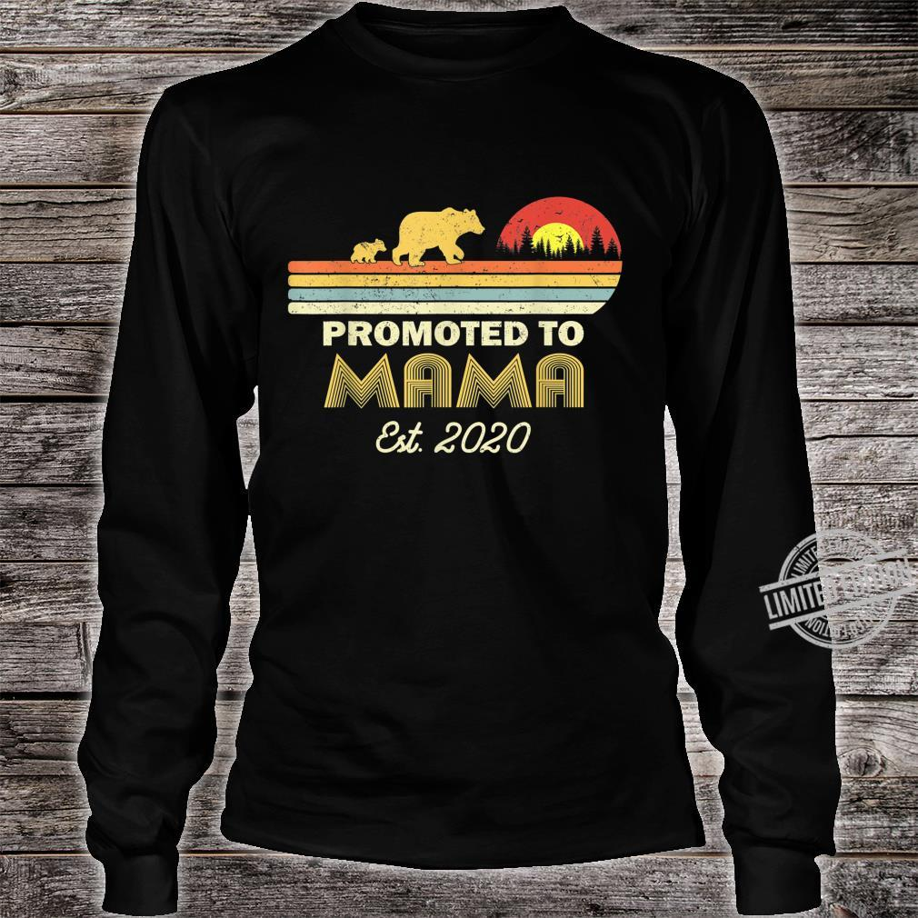 Bear Promoted to mama Est 2020 First Time Shirt long sleeved