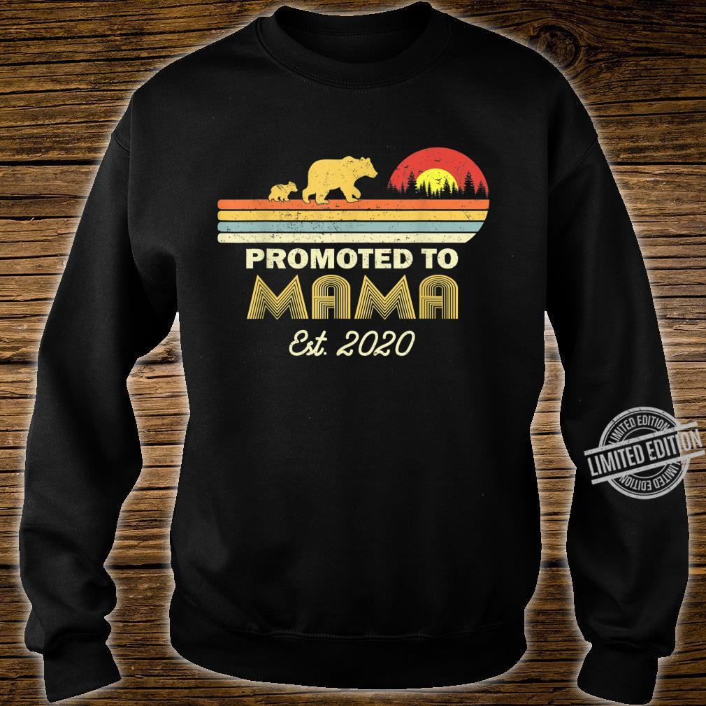 Bear Promoted to mama Est 2020 First Time Shirt sweater