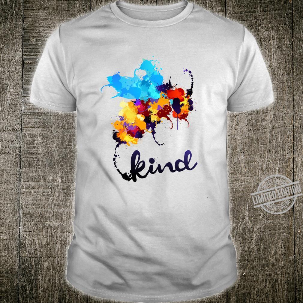Bee Kind Paint Splatter Mobbing Prävention AntiMobbing Shirt