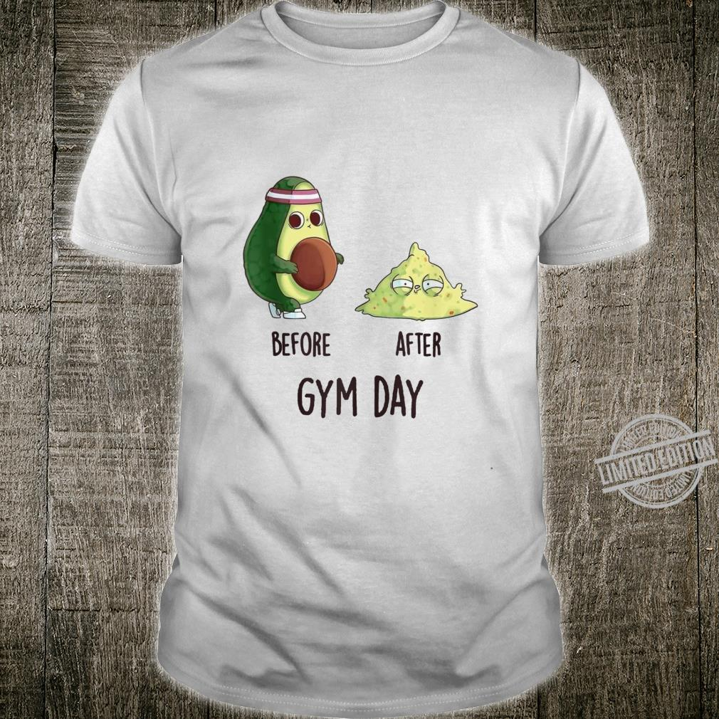 Before After Gym Day Fitness Workout Cool Cute Novelty Shirt
