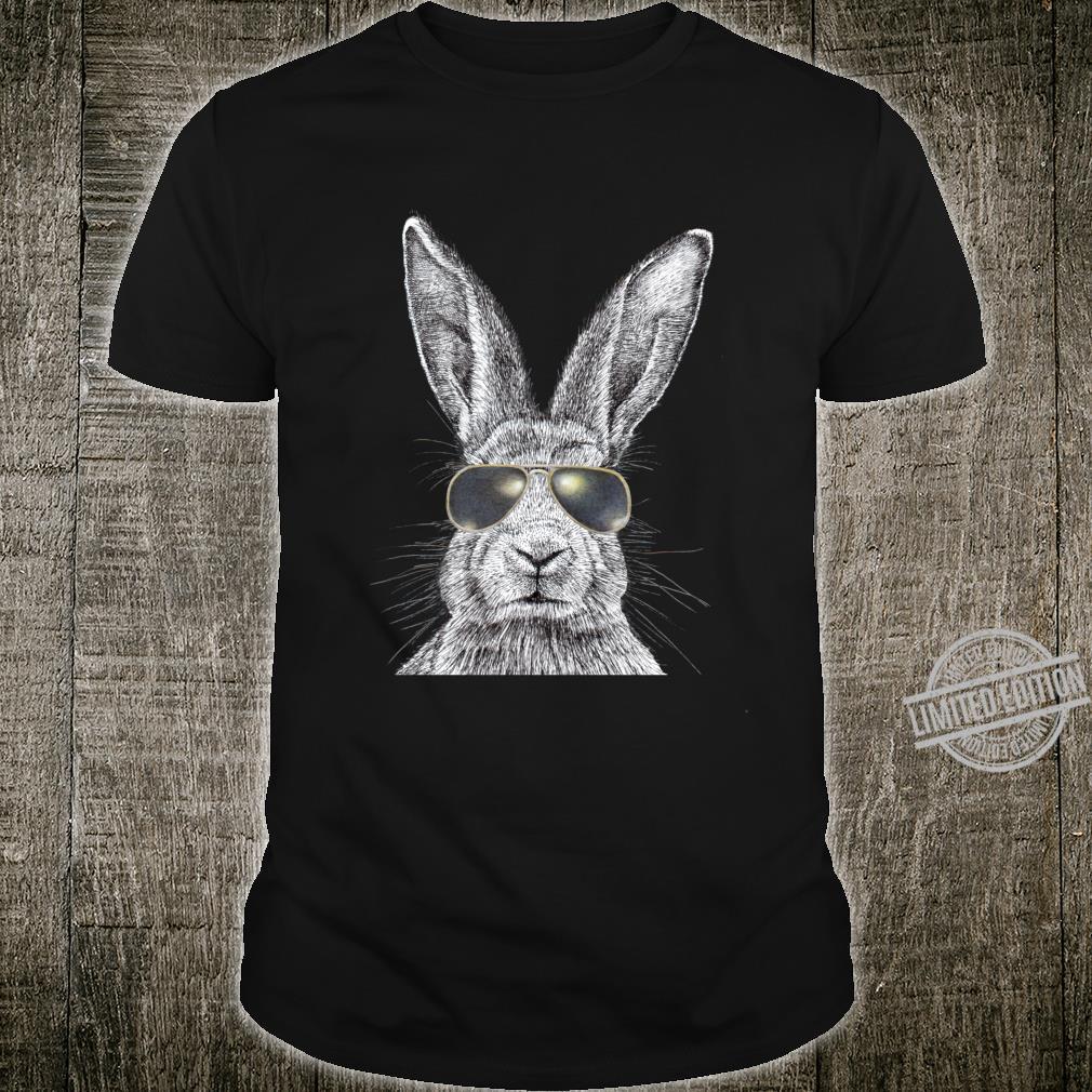 Bunny Rabbit In Police Sunglasses Shirt