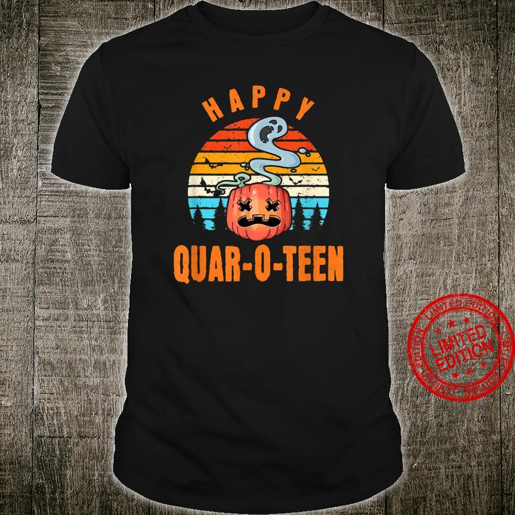 Cancel 2020 Halloween Quarantine Happy QuarOTeen Pumpkin Shirt