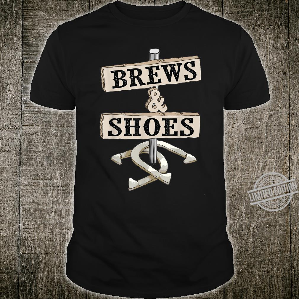 Cool Brews & Shoes Horseshoe Throwing Drinker Shirt