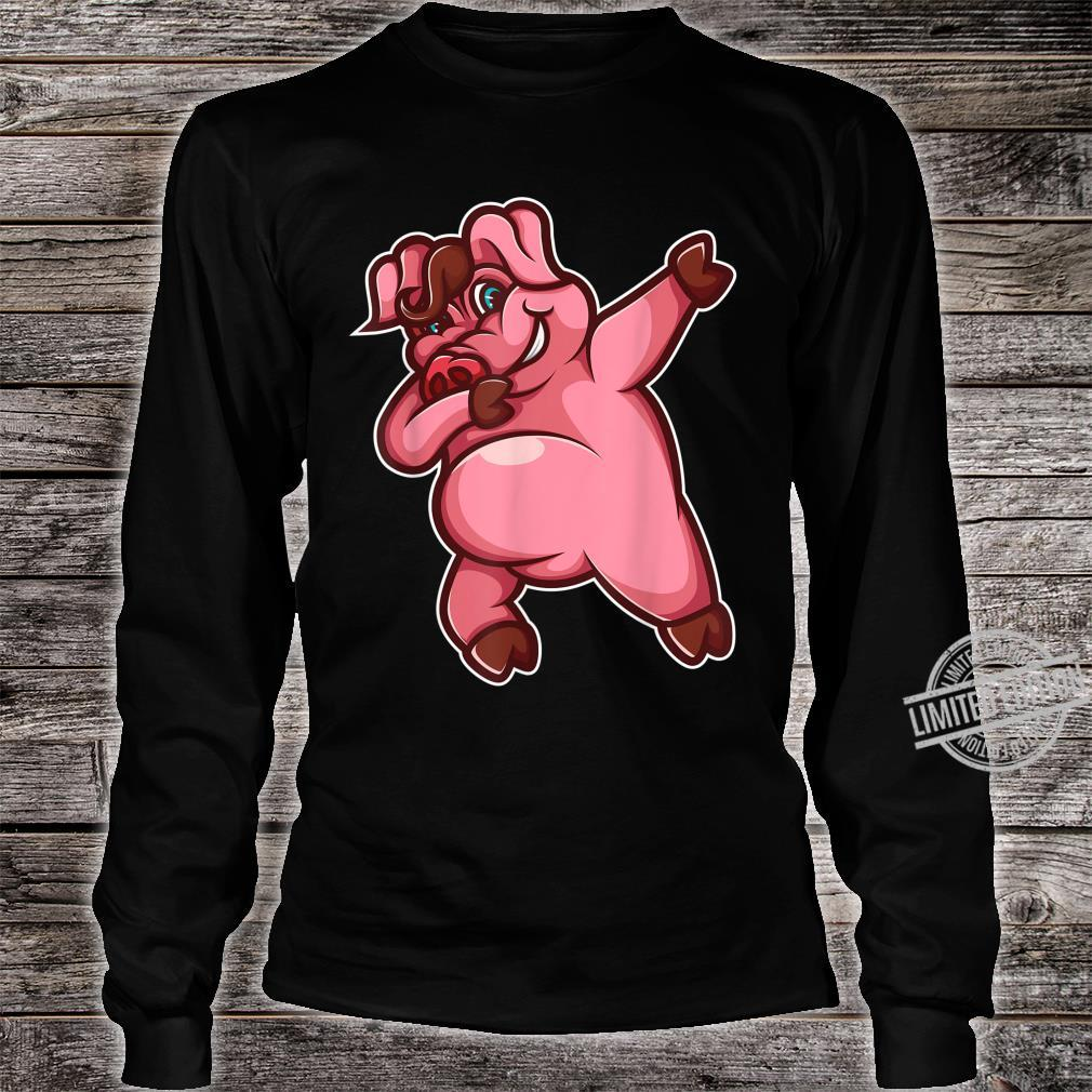Cool Dabbing Pig Hiphop Boar Dancing Hog Pet Shirt long sleeved