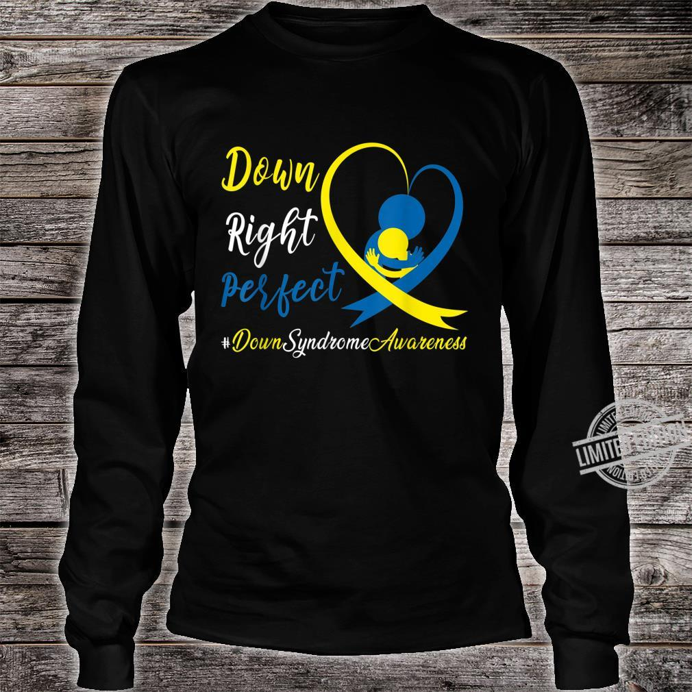 Dad Mom Heart Down Right Perfect World Down Syndrome Shirt long sleeved