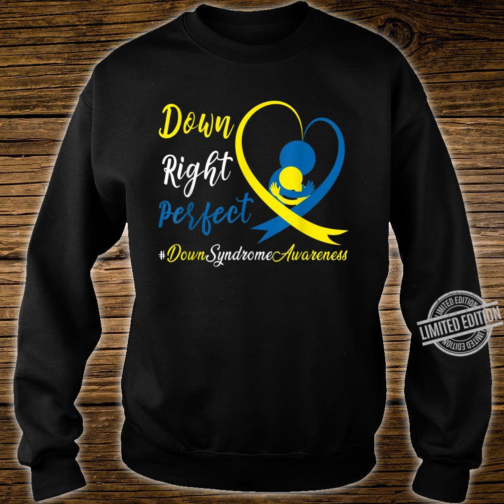 Dad Mom Heart Down Right Perfect World Down Syndrome Shirt sweater