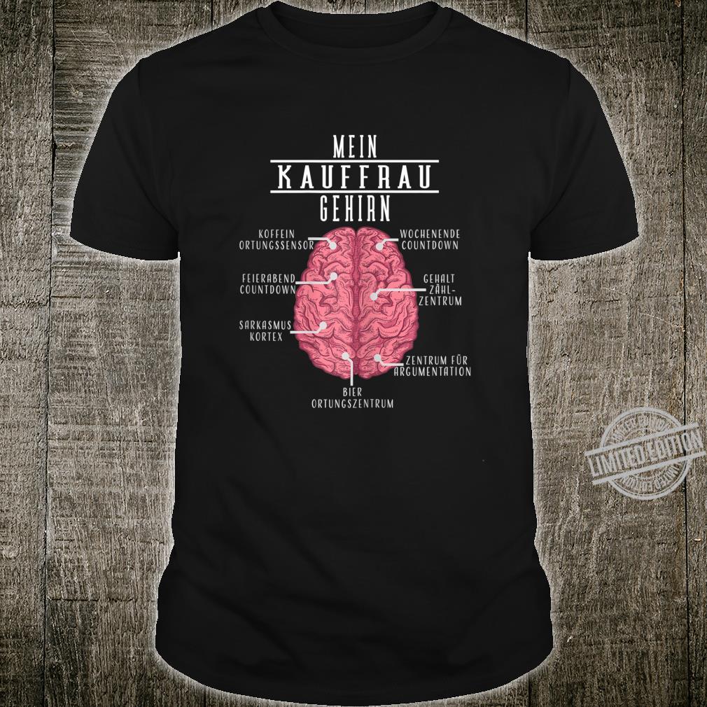 Damen Lustiges Einzelhandelskaufmann Geschenk Mein Kaufmann Gehirn Shirt