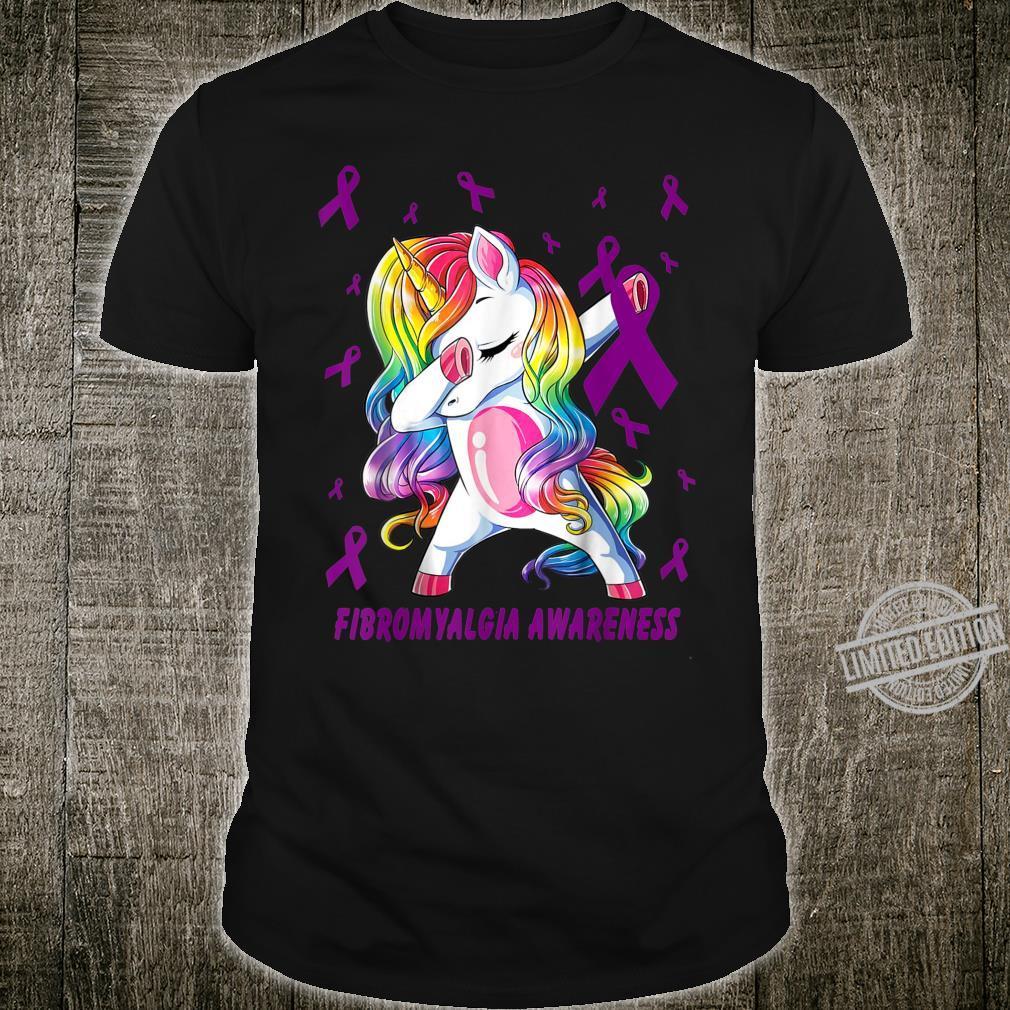 Fibromyalgia dabbing unicorn warrior Shirt