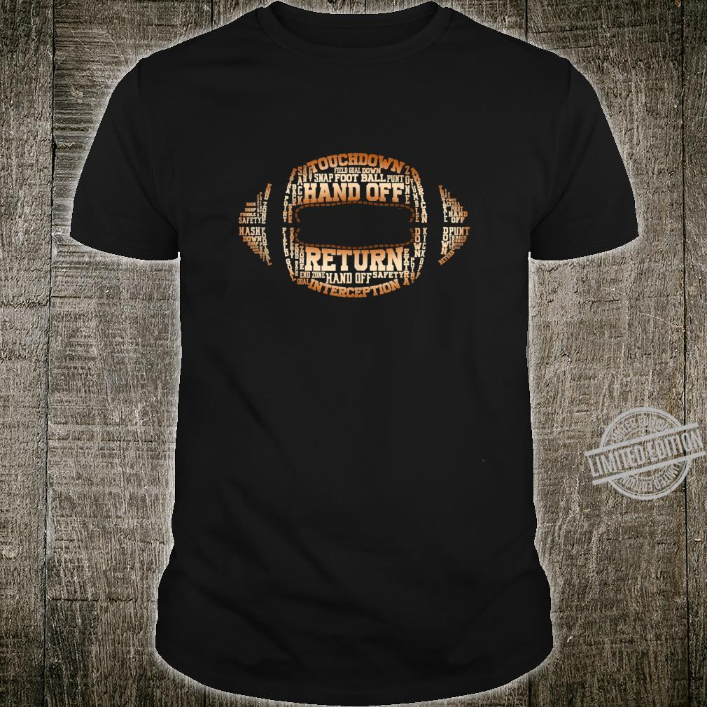 Football Team Word Cloud Football Player Shirt