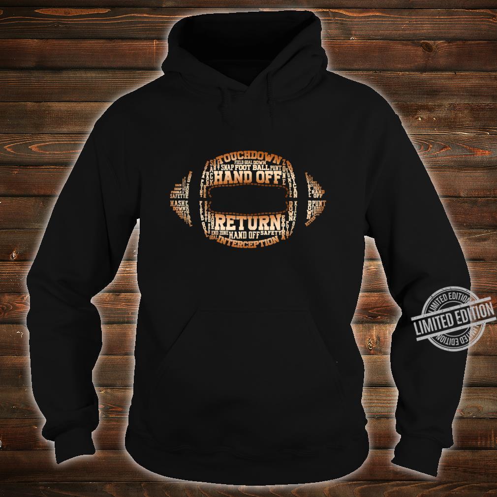 Football Team Word Cloud Football Player Shirt hoodie