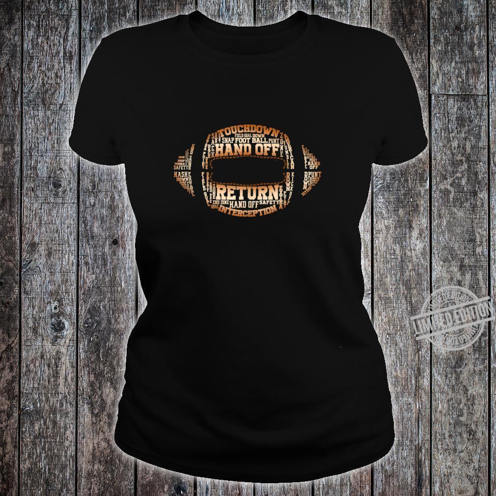 Football Team Word Cloud Football Player Shirt ladies tee