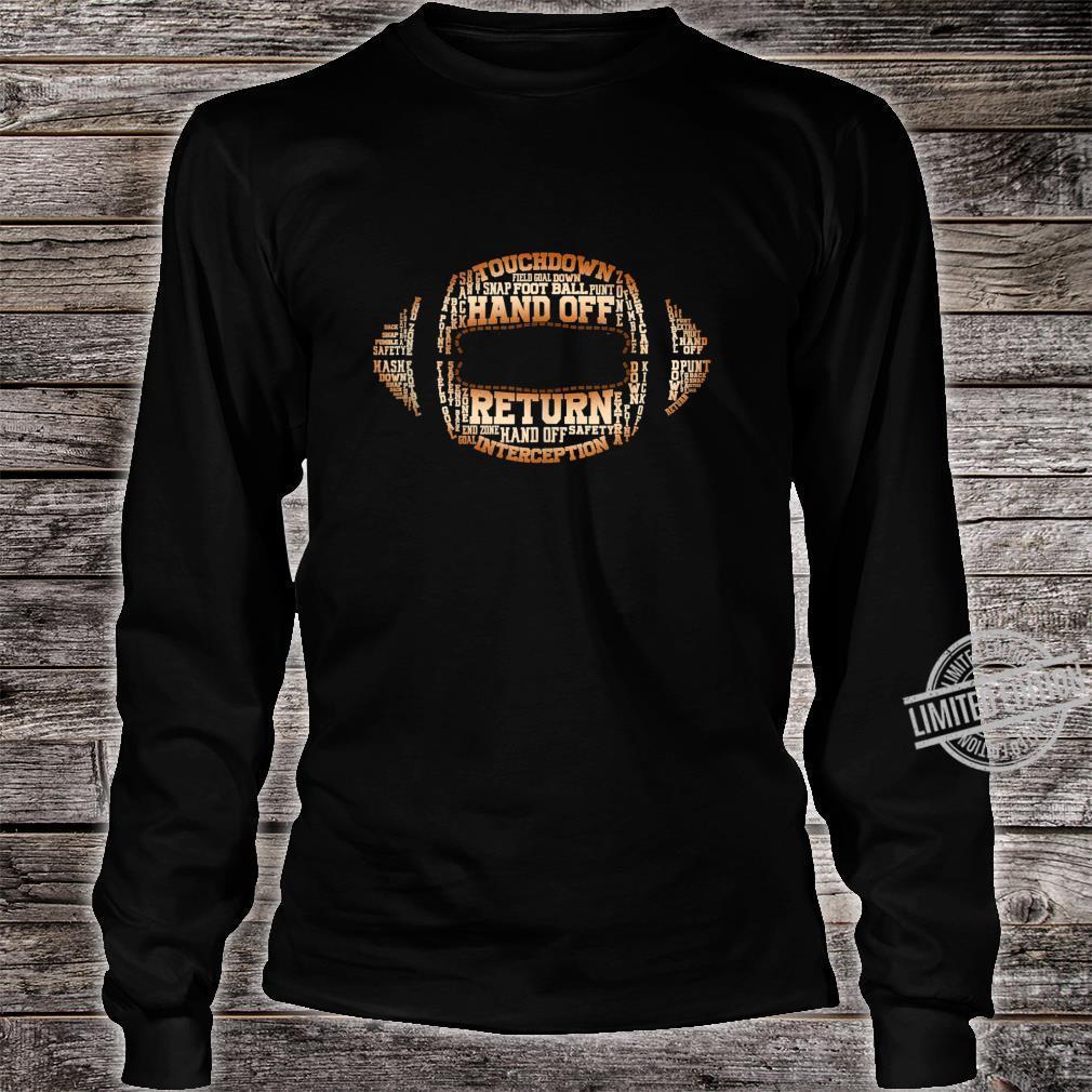 Football Team Word Cloud Football Player Shirt long sleeved