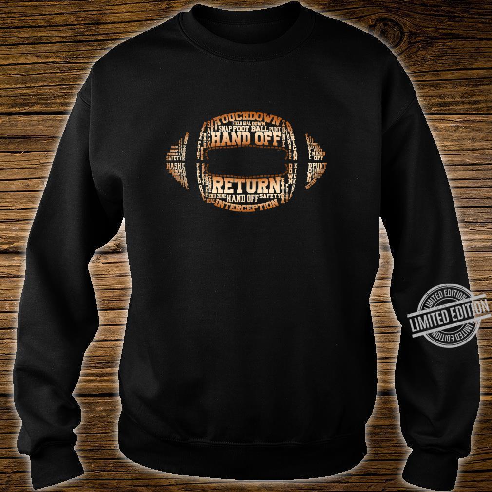 Football Team Word Cloud Football Player Shirt sweater