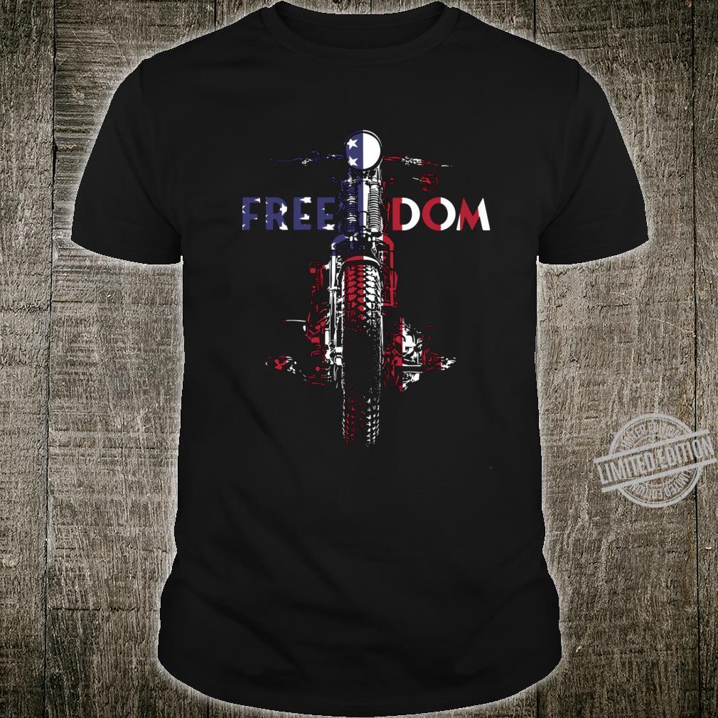 Freedom USA Flag Vintage Springer Bobber HD Motorcycle Biker Shirt