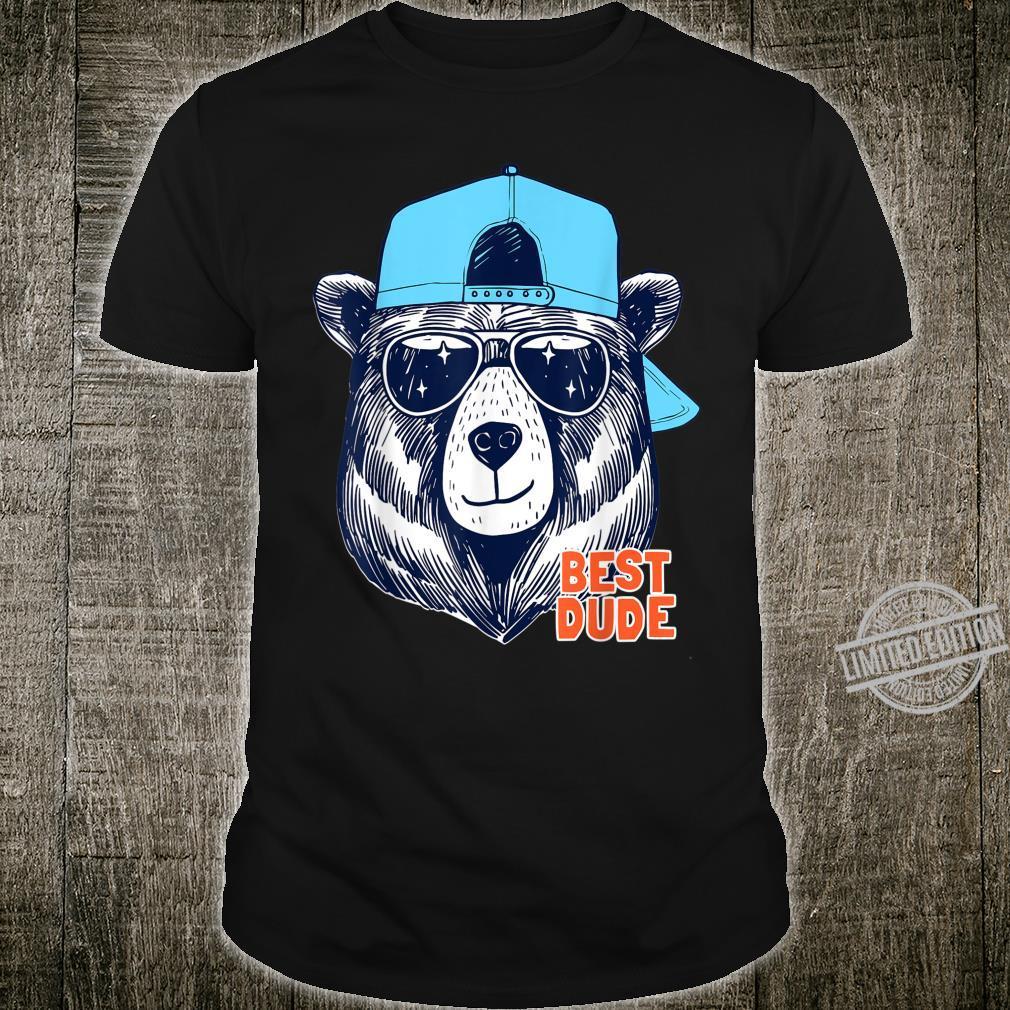 Funny Cool Summer Bear Tshirt, Best Dude, Summer Shirt