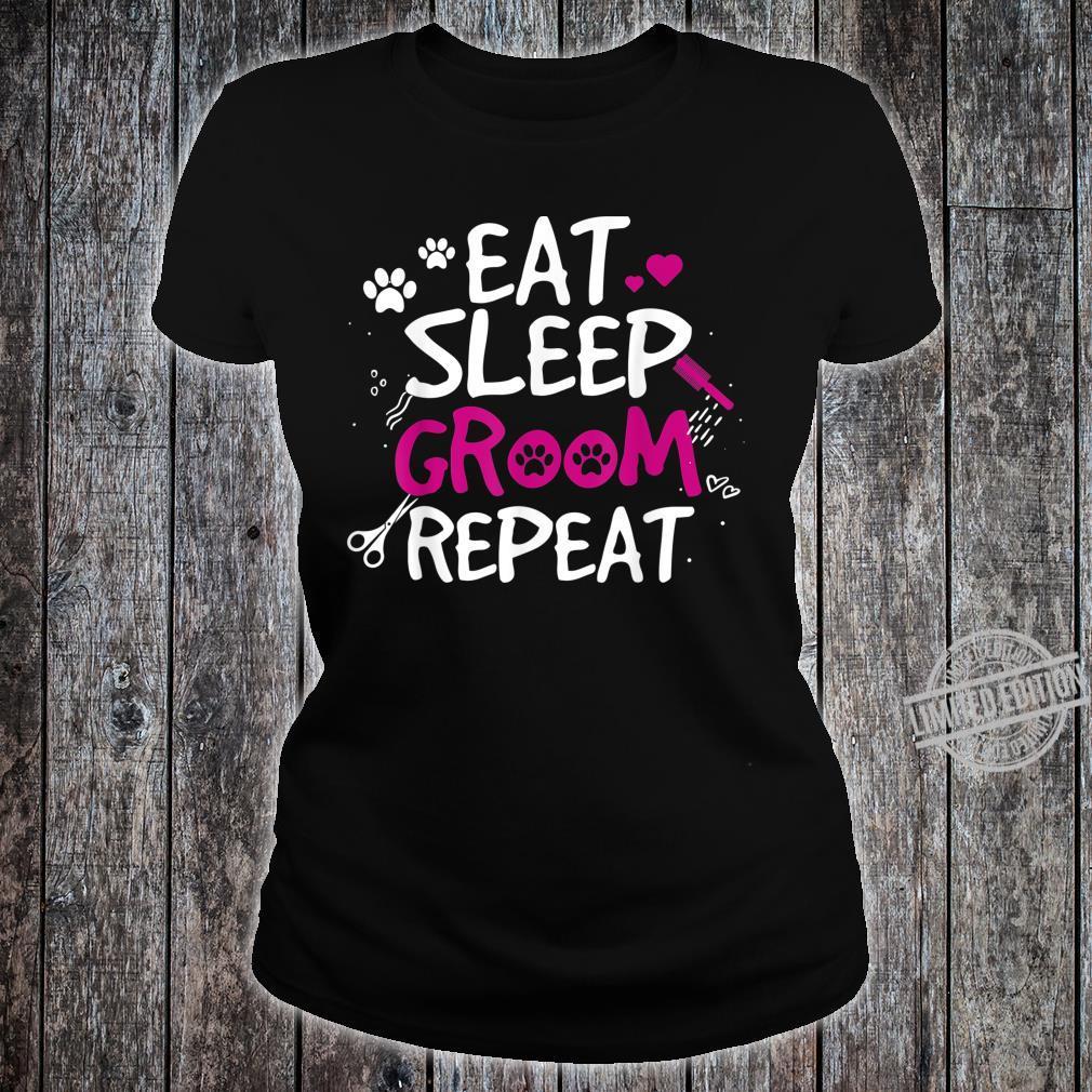 Funny Design for Dog Salon Owner Shirt ladies tee