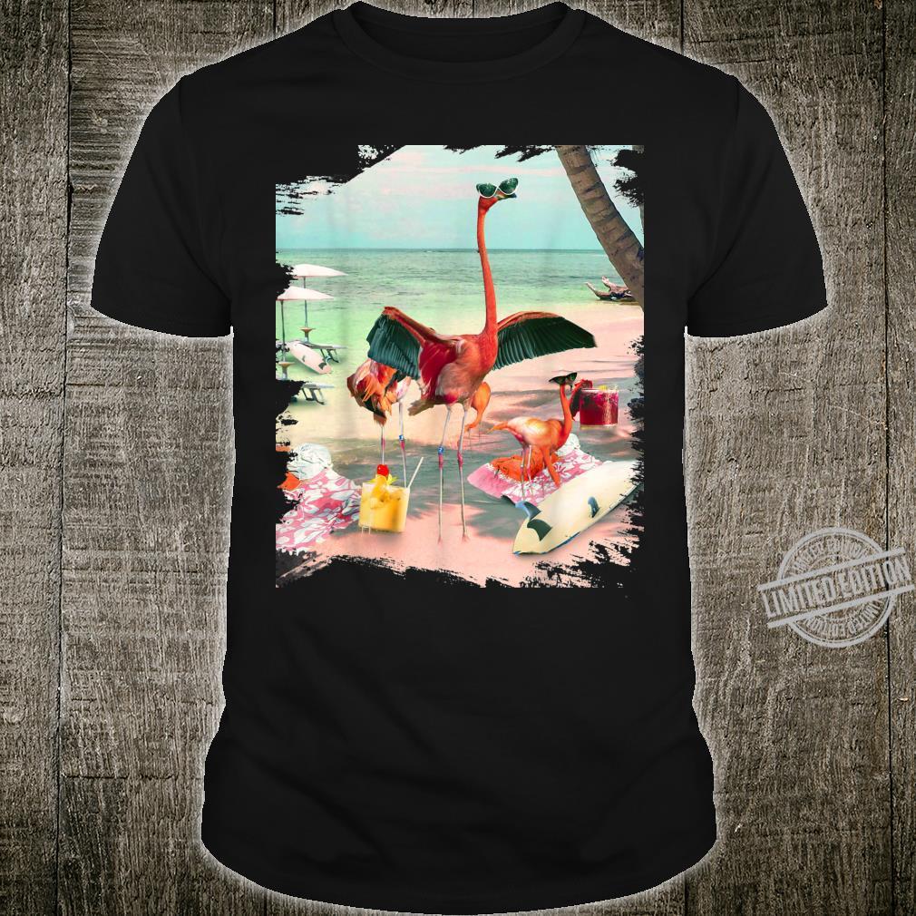 Funny Flamingo Beach Shirt