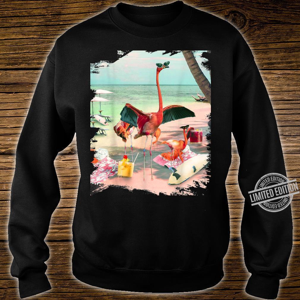 Funny Flamingo Beach Shirt sweater