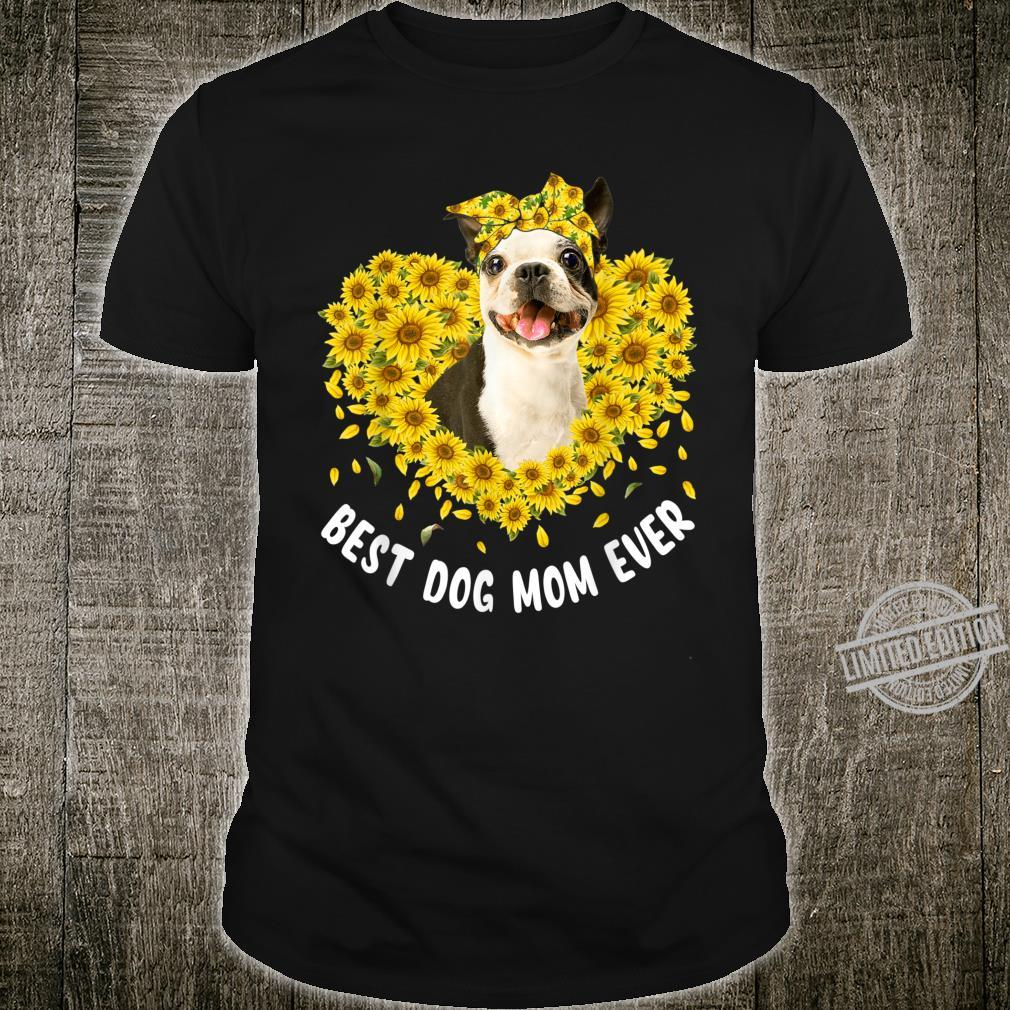 Funny French Bulldog Mom Loves Sunflower Mother's Day Shirt