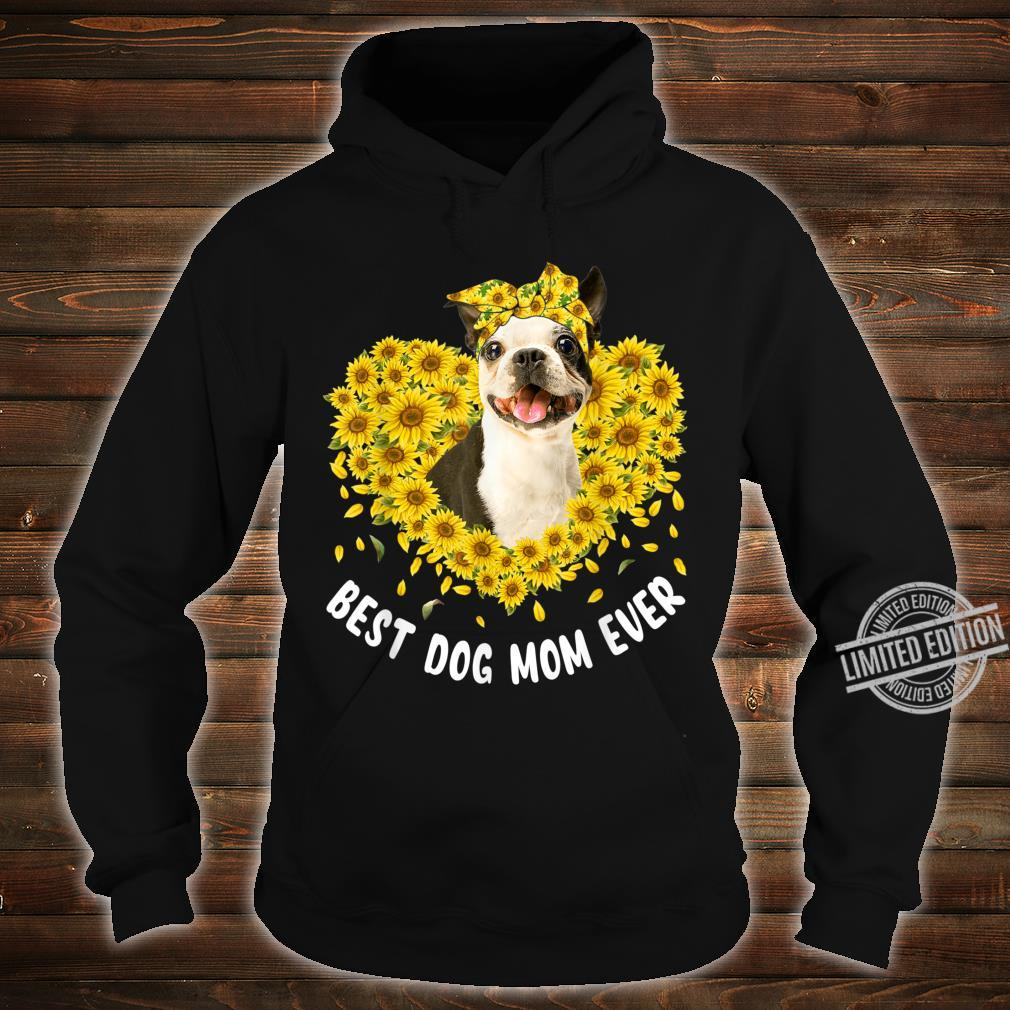 Funny French Bulldog Mom Loves Sunflower Mother's Day Shirt hoodie