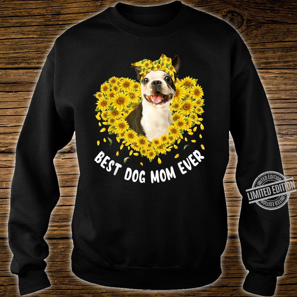 Funny French Bulldog Mom Loves Sunflower Mother's Day Shirt sweater