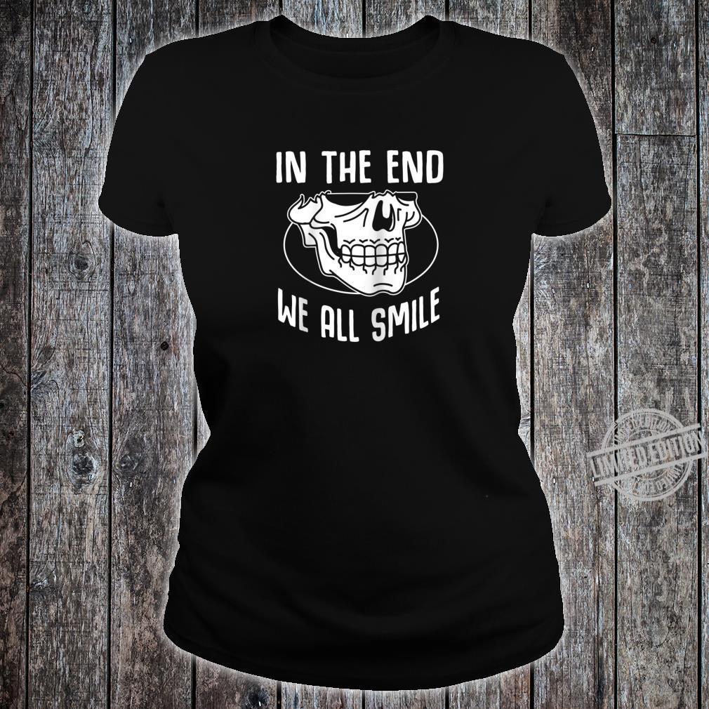 Funny Grim Reaper Satanic Hail Satan Occult Shirt ladies tee