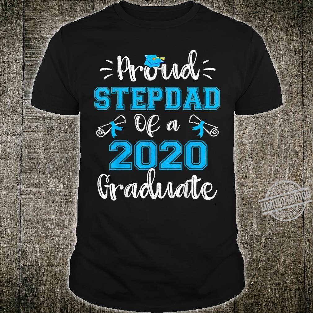Funny Proud Stepdad Of A 2020 Graduate Shirt Senior 20 Shirt
