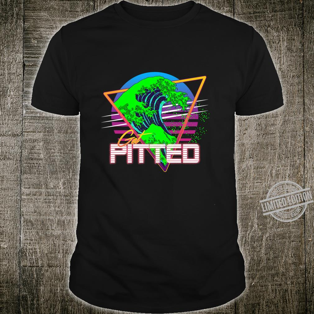 Get Pitted Kanagawa Great Wave Vaporwave Outrun Surfing Shirt