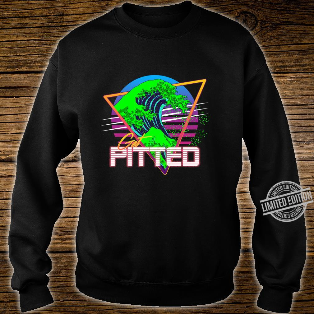Get Pitted Kanagawa Great Wave Vaporwave Outrun Surfing Shirt sweater