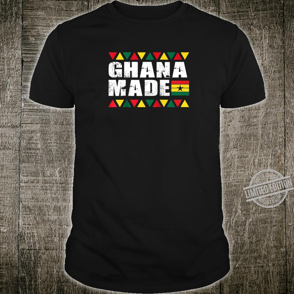 Ghana Made Black Star Country Flag Shirt