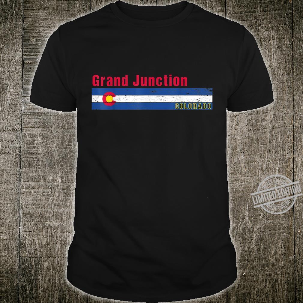 Grand Junction Colorado retro flag distressed design Shirt