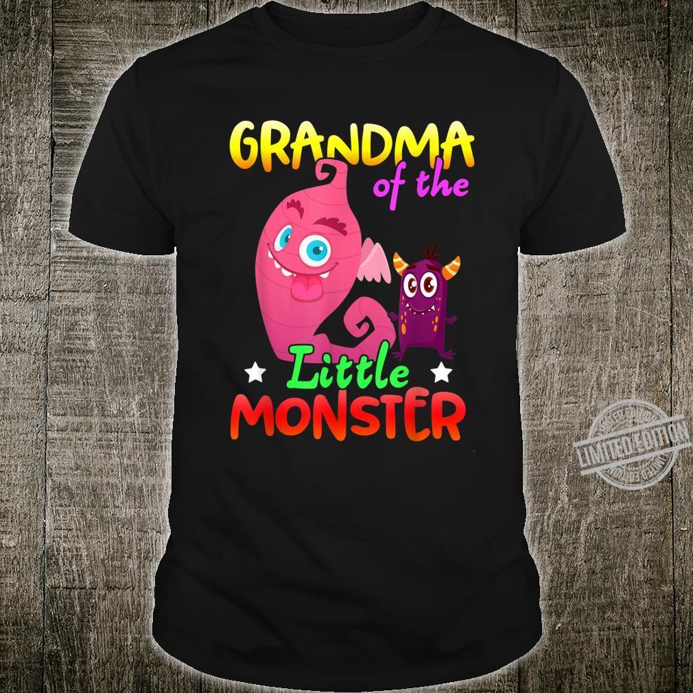 Grandma Of The Little Monster Birthday Boy Family Party Shirt