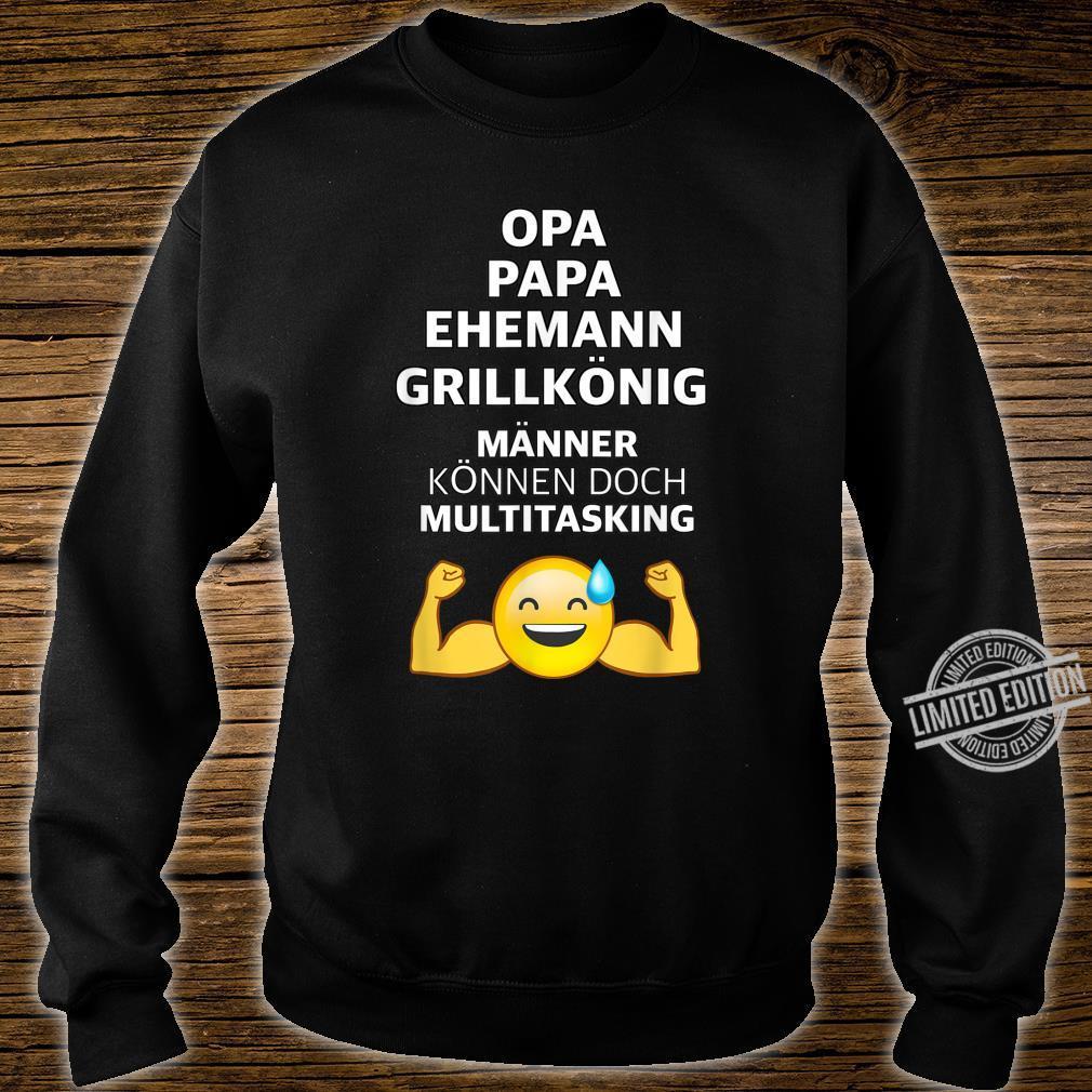 Herren OPA PAPA BBQ GRILL Männer Spruch Grillen Lustig Geschenk Shirt sweater