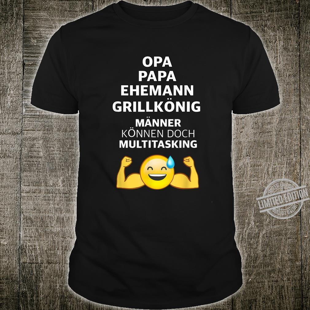 Herren OPA PAPA BBQ GRILL Männer Spruch Grillen Lustig Geschenk Shirt