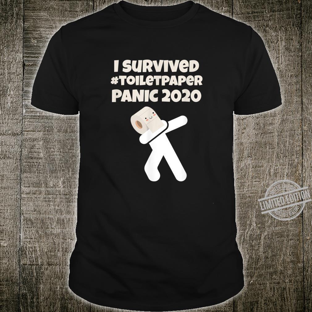 I Survived The Toilet Paper Panic 2020 Dabbing TP Boys Son Shirt