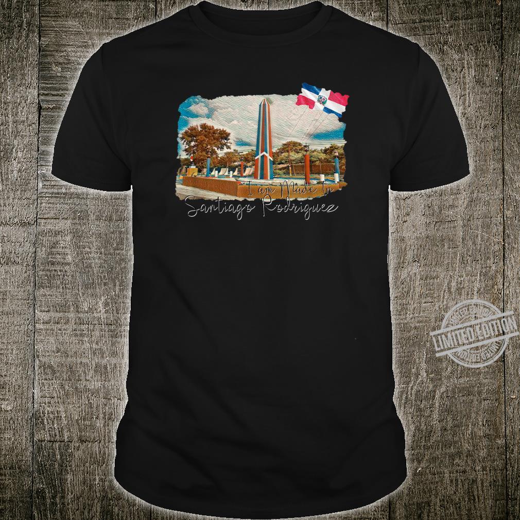 I made in Santiago Rodriguez, Dominican Flag, bandera domini Shirt