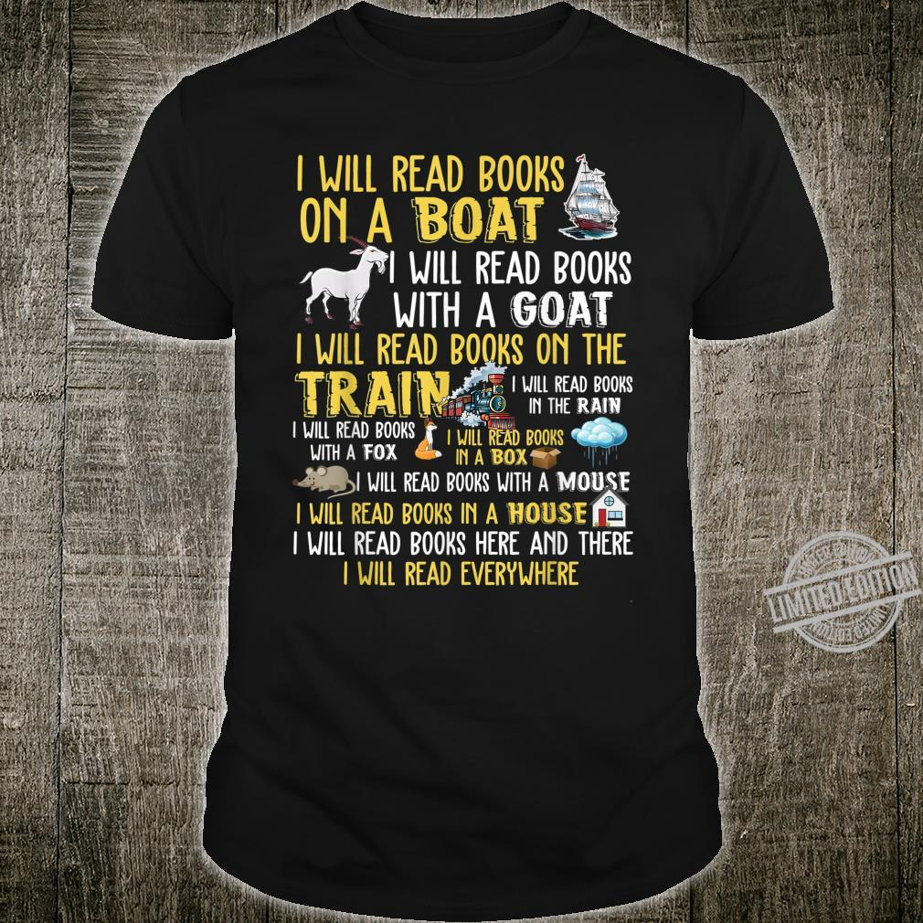 I will read books on a boat & everywhere reading Shirt