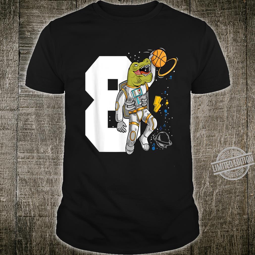 Ich Bin Schon 8 Geburtstag Jungen Dinosaurier Astronaut Shirt