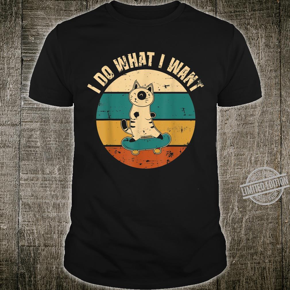 Ich mache was ich will Katzendesign Geschenk Cat Kitty Shirt