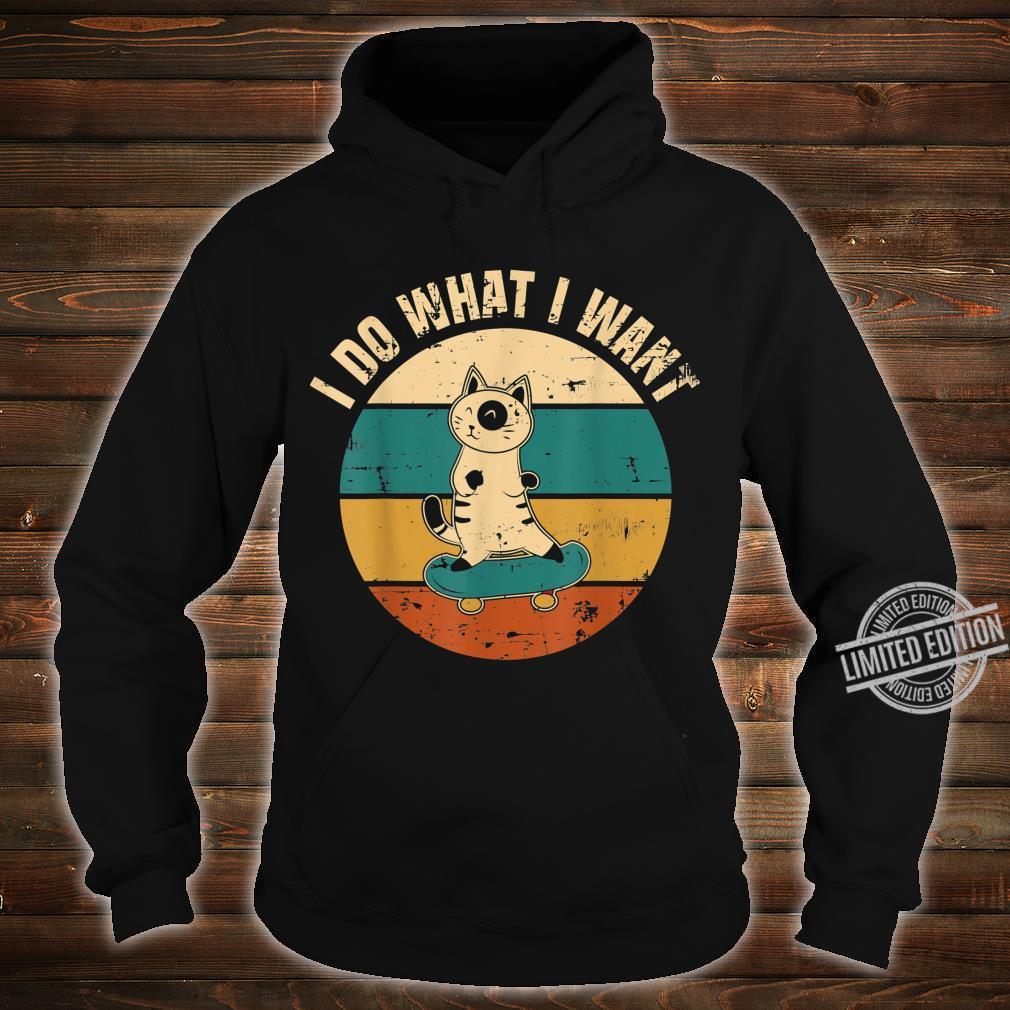 Ich mache was ich will Katzendesign Geschenk Cat Kitty Shirt hoodie