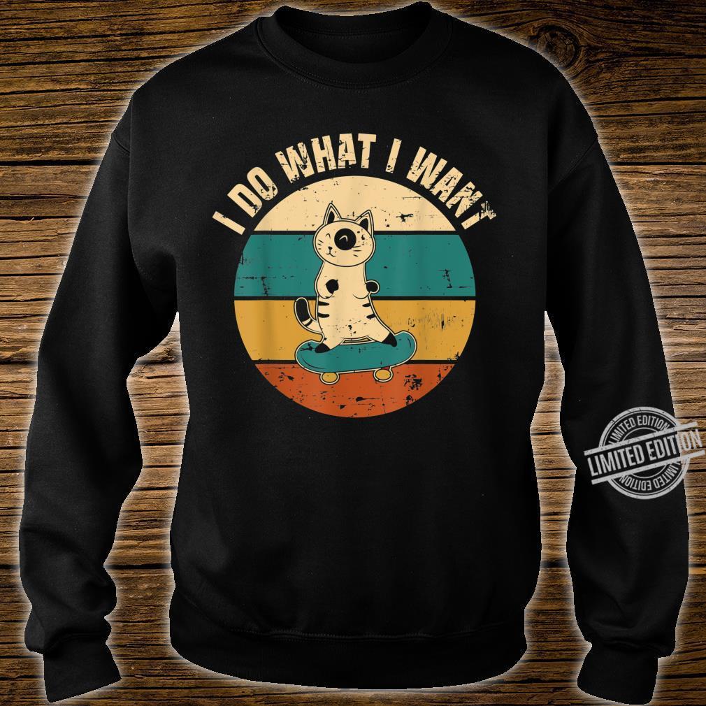 Ich mache was ich will Katzendesign Geschenk Cat Kitty Shirt sweater