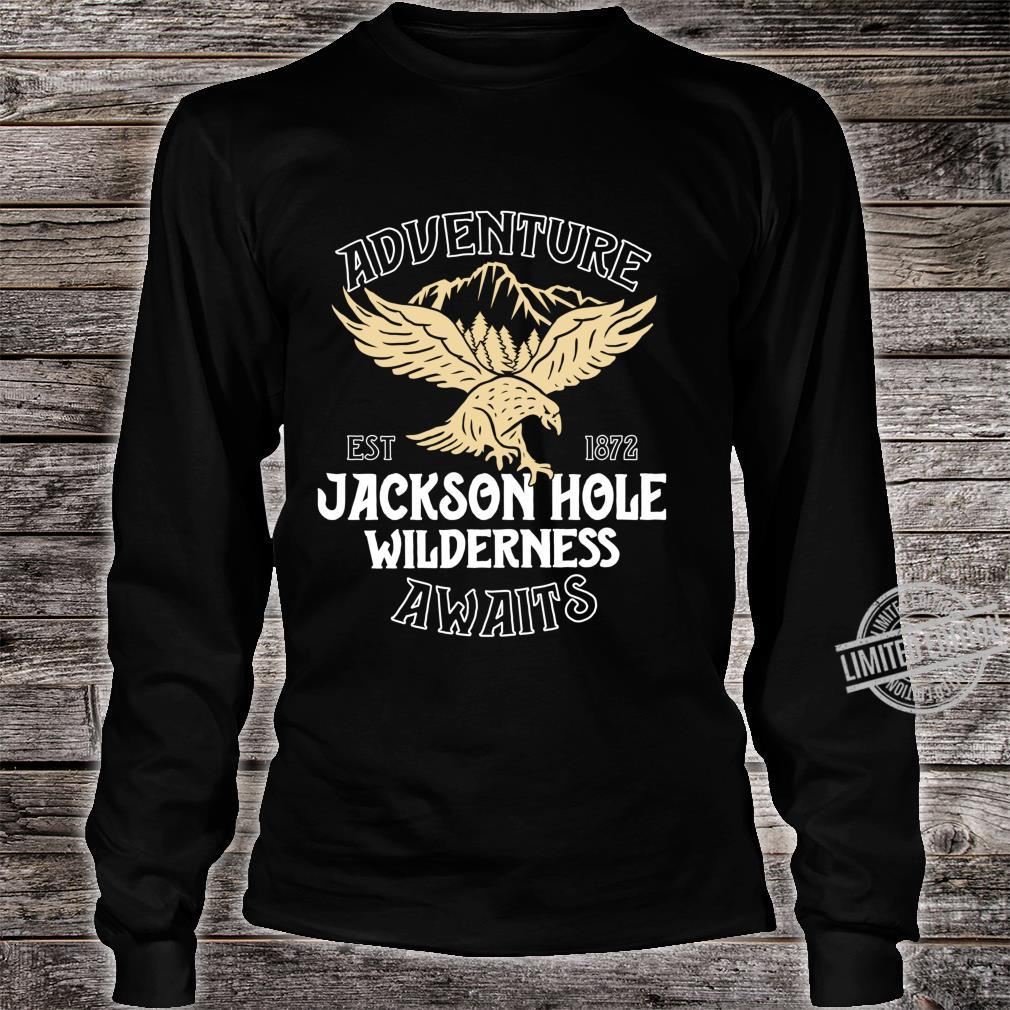 Jackson Hole Eagle Wyoming Park Adventure Awaits Shirt long sleeved