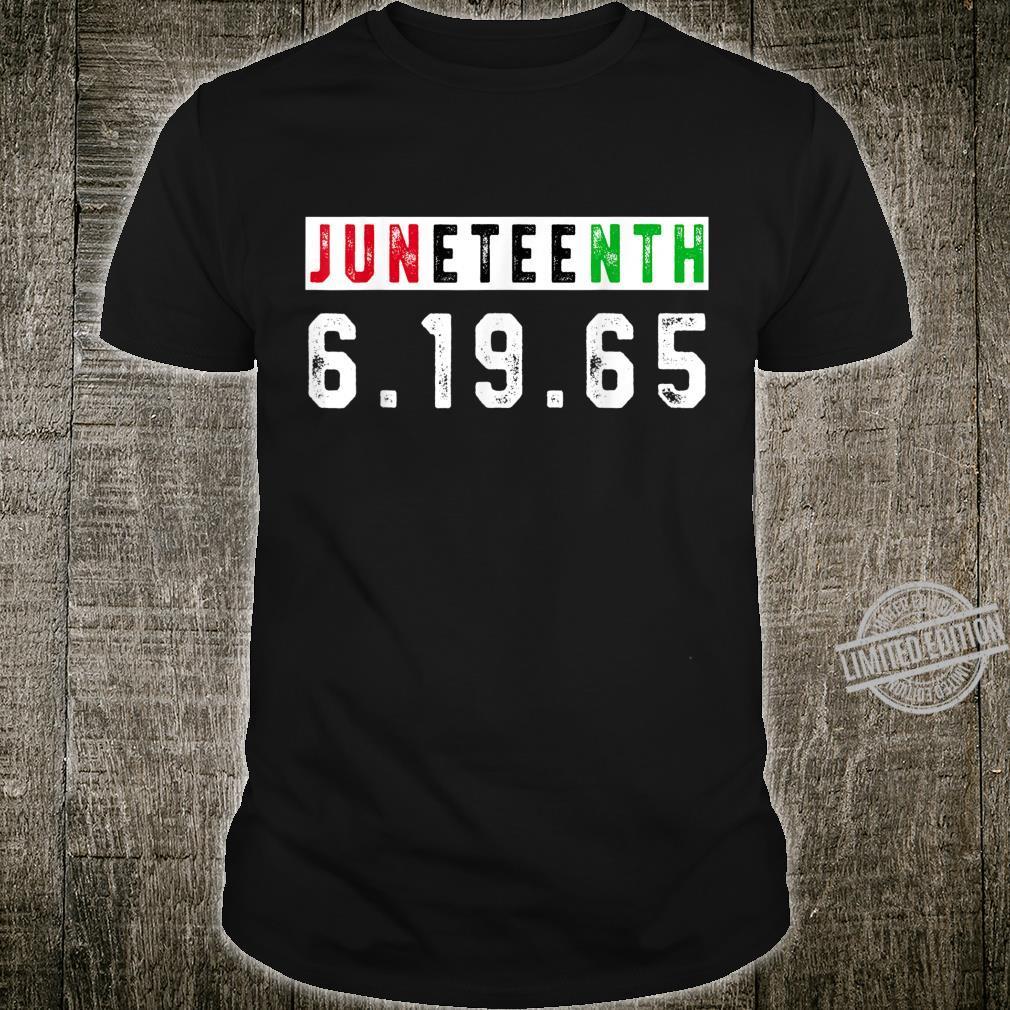 Juneteenth Afro Flag Pro Black African American Flag Pride Shirt