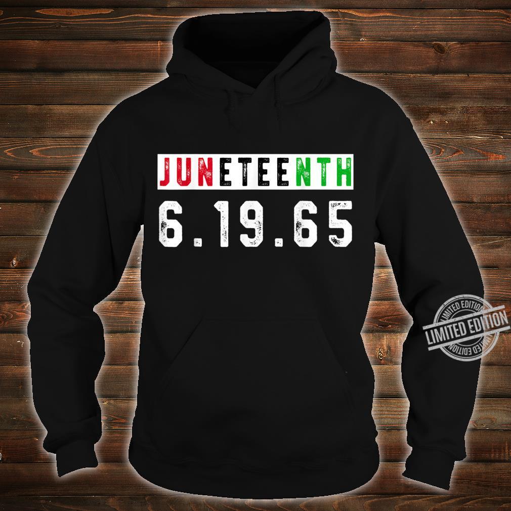 Juneteenth Afro Flag Pro Black African American Flag Pride Shirt hoodie