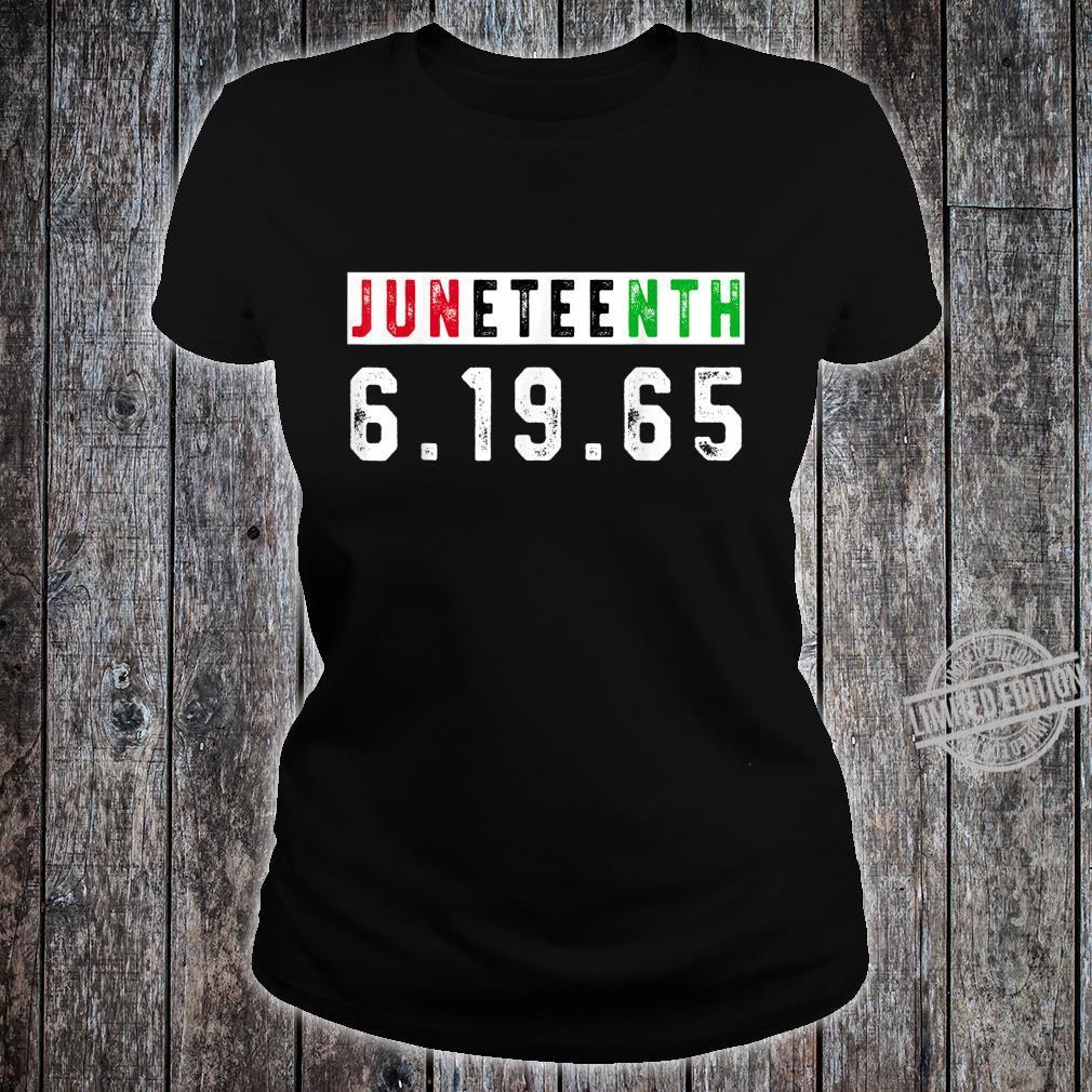 Juneteenth Afro Flag Pro Black African American Flag Pride Shirt ladies tee